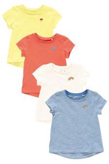 Multi Bright T-Shirts Four Pack (3mths-6yrs)