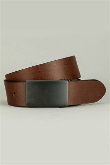 Reversible Gunmetal Plaque Belt