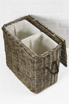 Natural Willow Laundry Sorter