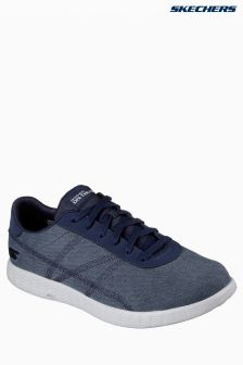 Skechers® Navy On The Go Glide Ease Canvas Trainer