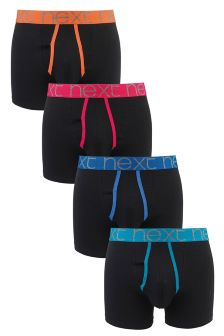Bright Waistband A-Fronts Four Pack