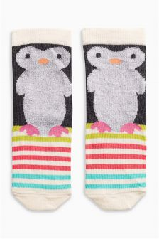 Cosy Penguin Socks One Pack (Younger Girls)