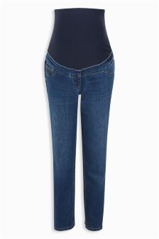 Maternity Straight Leg Over The Bump Jeans