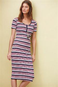 Pink Stripe Bodycon Dress