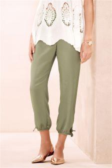Satin Taper Trousers