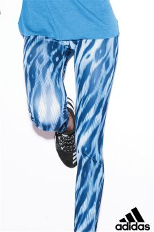 adidas Blue Long All Over Print Tight