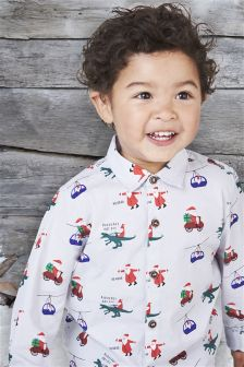 Christmas Print Shirt (3mths-6yrs)
