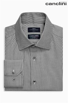 Signature Canclini Slim Fit Triangle Design Shirt