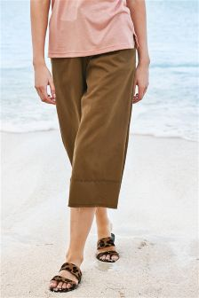 Lace-Up Front Wide Leg Trousers