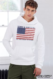 Ralph Lauren Denim & Supply White USA Hoody