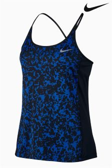 Nike Blue Dry Miler Running Tank
