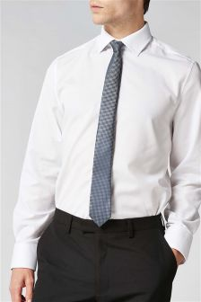 Regular Fit Shirt, Tie And Pocket Square Set