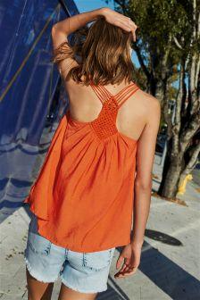 Crochet Back Vest Top