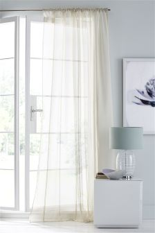 Chenille Stripe Sheer Panel