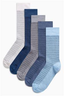 Tonal Texture Socks Five Pack