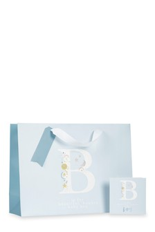 Baby Boy Bag, Card And Tissue Set