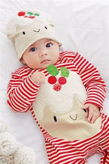 Little Pudding Dress Up Sleepsuit And Hat (0-18mths)