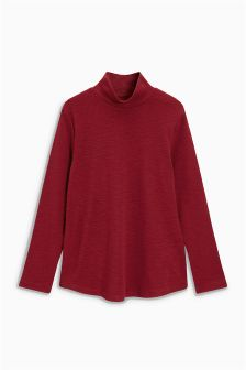 Long Sleeve Funnel Neck Top (3-16yrs)