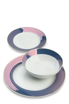12 Piece Lustre Rim Dinner Set