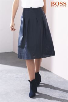 Boss Orange Dark Blue Beswedy Skirt