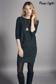 Phase Eight Green Becca Batwing Dress