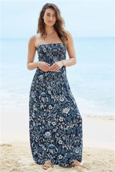 Floral Pull On Maxi Dress