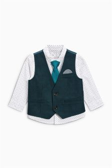 Waistcoat With Shirt And Tie (3mths-6yrs)