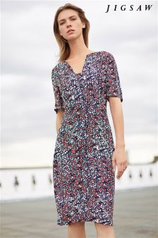 Jigsaw Coral Frieda Floral Dress