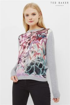 Ted Baker Grey Illuminated Bloom Woven Jumper