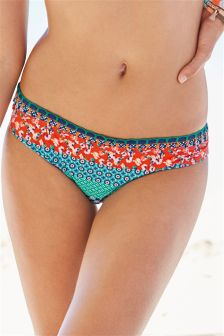 Patchwork Soft Bikini Briefs
