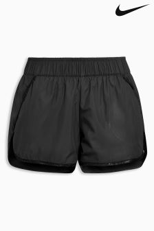 Nike Black Swoosh Mesh Short