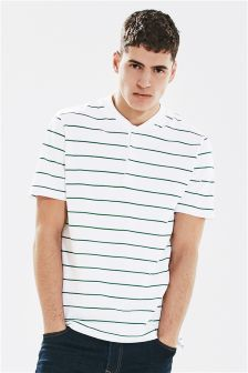 Striped Grandad T-Shirt