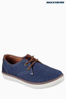 Skechers® Navy Palen Lace-Up Shoe