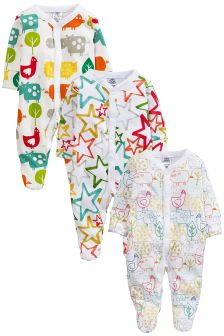 Bright Farm Sleepsuits 3 Pack (0mths-2yrs)