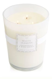 White Jasmine Large Candle