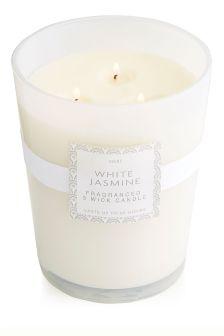 White Jasmine Large Candle