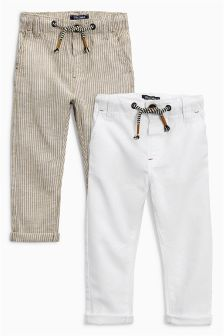 Linen Rich Trousers Two Pack (3mths-6yrs)