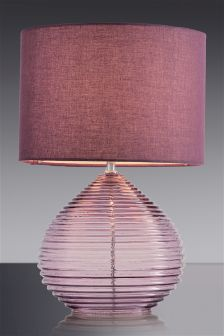 Plum Drizzle Glass Table Lamp