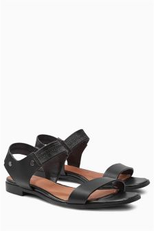 Elasticated Two Part Sandals