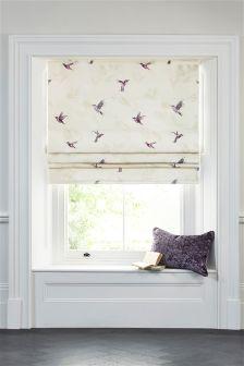 Hummingbird Print Roman Blind