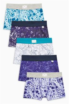 Printed Trunks Five Pack (2-16yrs)