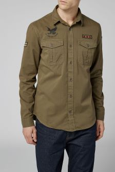Long Sleeve Badged Shirt