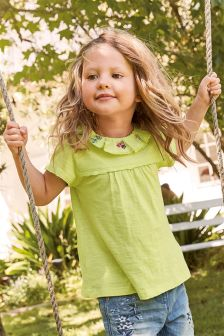 Embroidered Frill Blouse (3mths-6yrs)