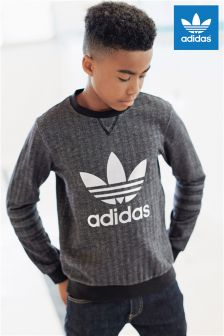 adidas Originals Black Trefoil Crew Sweater