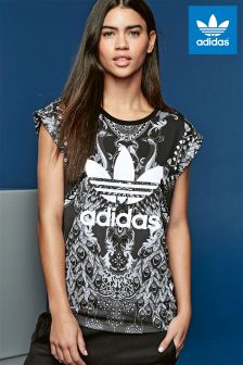 adidas Originals Black Print Pavao Tee
