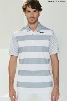 Nike Golf Grey Breathe Stripe Polo