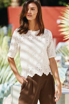 Embroidered Layer Top