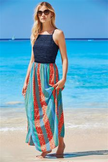 Multi Patchwork Maxi Dress