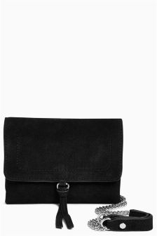 Suede Mini Across-Body Bag