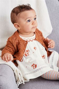 Fox Embroidered Dress (0mths-2yrs)